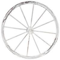 Holzrad whitewash Wagenrad Dekorad Speichenrad Garten-Deko Ladendeko 90 cm