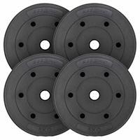 MAXXIVA Hantelscheiben Set Zement 4x5kg Gewichte schwarz Gewichtsscheiben 20 kg