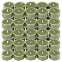 50er Set Teelichter PC Cup-Lichter Olivgrün Brenndauer ca. 4h Größe 2x3,5 cm