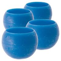 4er Set Windlicht Wachs Aqua Blau 120er Größe 10x12 cm Lampionbowl kerze