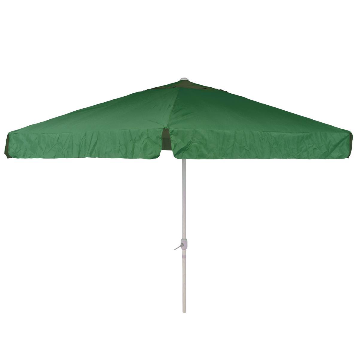 Sonnenschirm Marktschirm Ø 3,80m grün mit Kurbel Alu Gestell Sonnenschutz