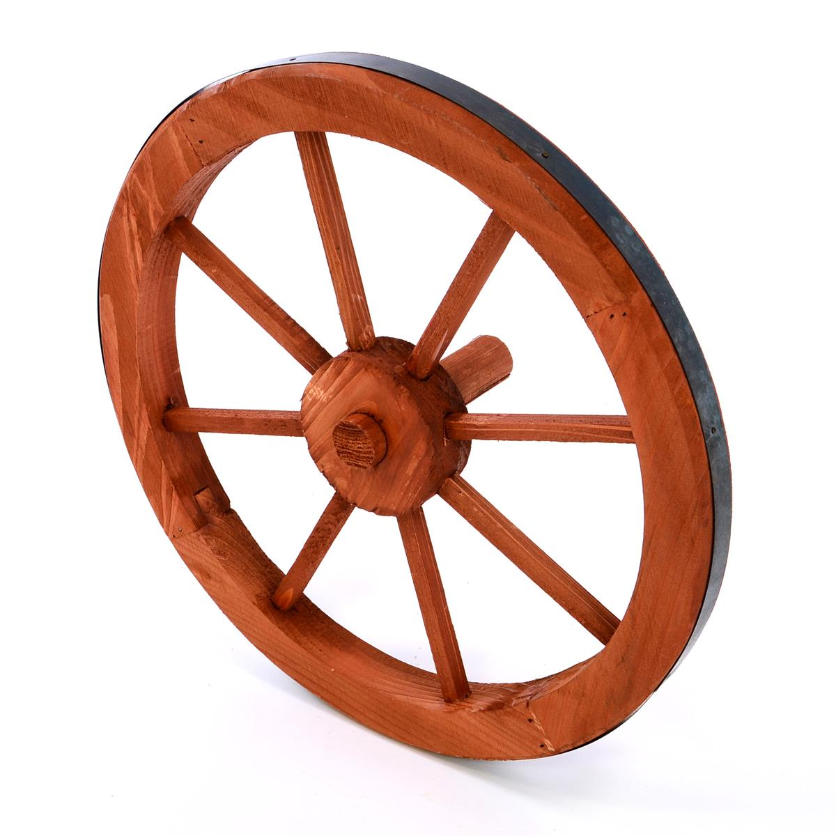 Holzrad Wagenrad 35 cm 8 Speichen Farbe rot braun Dekorad Wanddeko Speichenrad