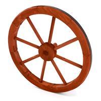 Holzrad Wagenrad 45 cm 8 Speichen rot braun Dekorad Wanddeko Speichenrad