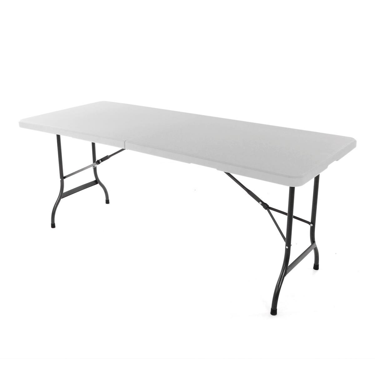 Klapptisch Campingtisch 180 cm Partytisch Catering Gartentisch Koffertisch weiß