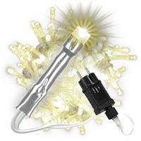 100 LED Lichterkette warmweiß Kabel transparent Innen Außen Trafo Timer