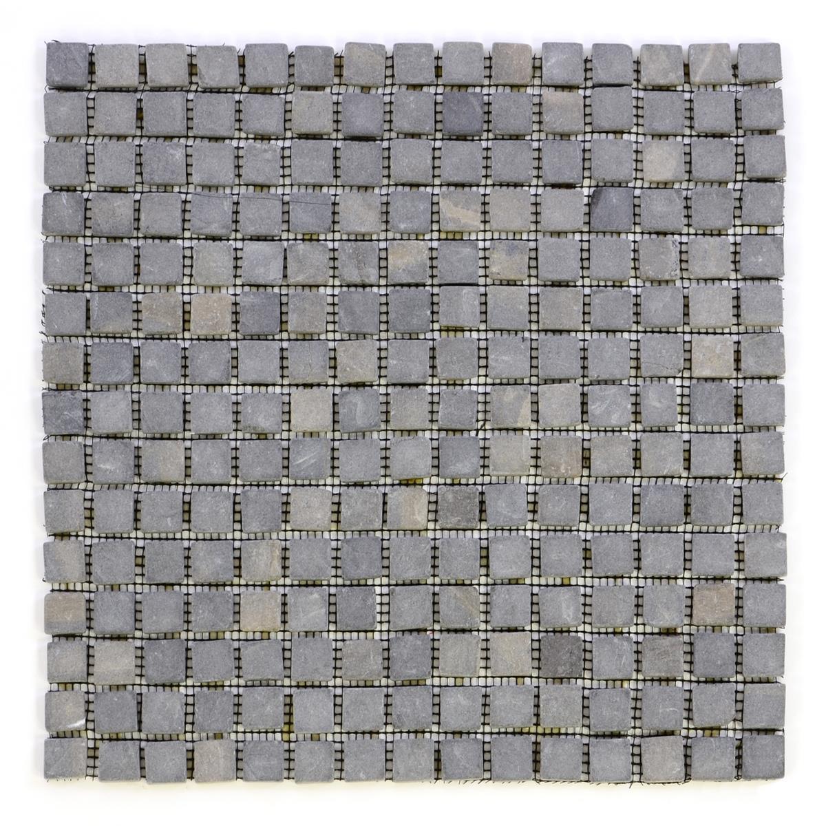 DIVERO 11 Fliesenmatten Naturstein Mosaik Marmor grau á 30 x 30 cm