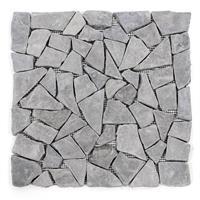 DIVERO 11 Fliesenmatten Mosaik Marmor Naturstein grau á 30x30cm