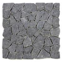 DIVERO 11 Fliesenmatten Naturstein Mosaik aus Andesit grau á 30 x 30 cm