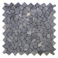 DIVERO 4 Fliesenmatten Naturstein Mosaik Marmor Wand Boden grau á 56x56cm
