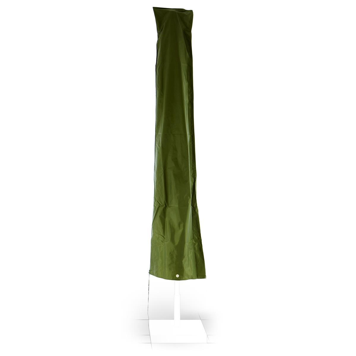 Schutzhülle Sonnenschirm Ø 4m Reißverschluss Grün Wetterschutz Polyester 2,30m