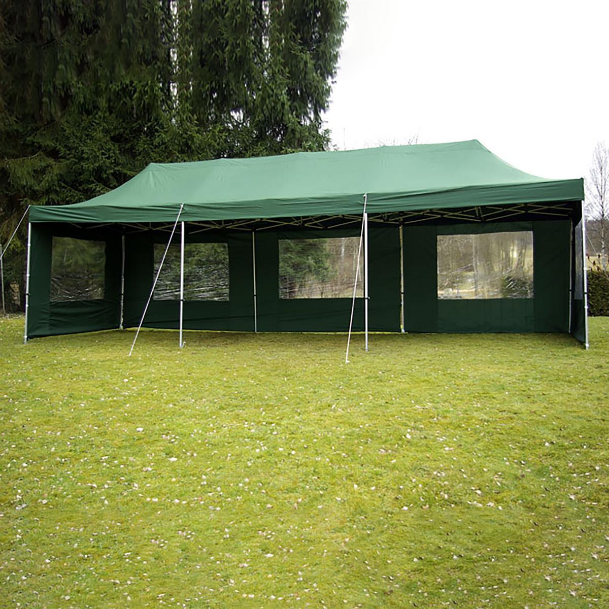 ERSATZDACH für Falt Pavillon Faltpavillon grün 3x9 m Zeltdach Wechseldach