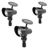3er-Set Solarstrahler Spotlight Solarleuchte 3 LED weiß Gartenleuchte