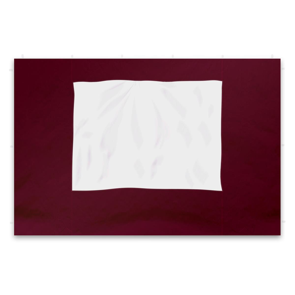 2 Seitenteile für PROFI Falt Pavillon burgund mit Fenster Polyester PA-coated