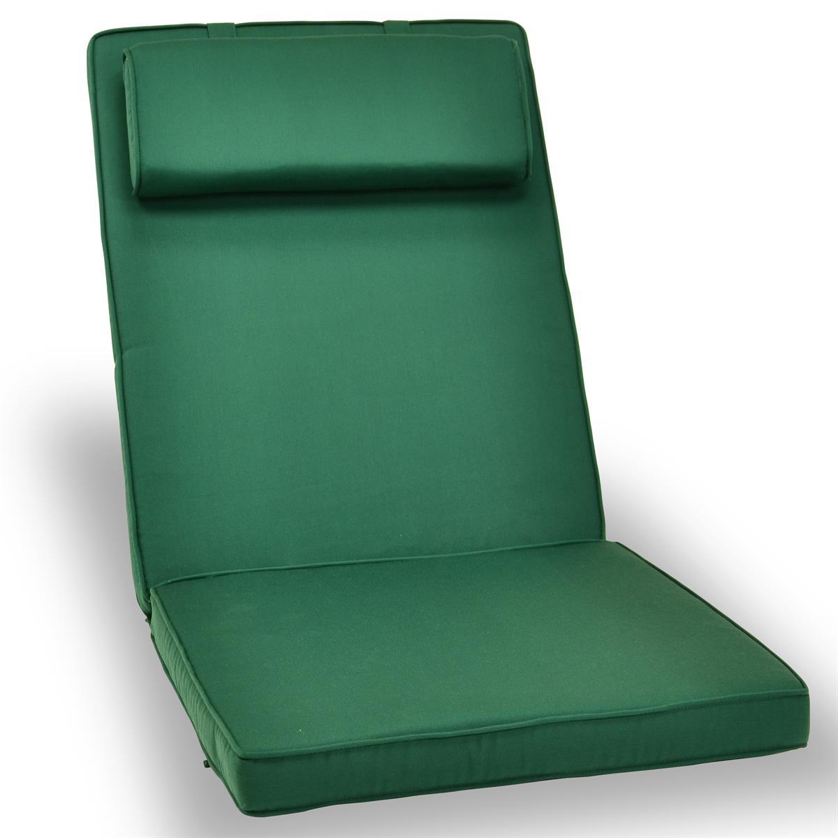 DIVERO Sitzauflage Polster Hochlehner Garten Camping Klappstuhl grün
