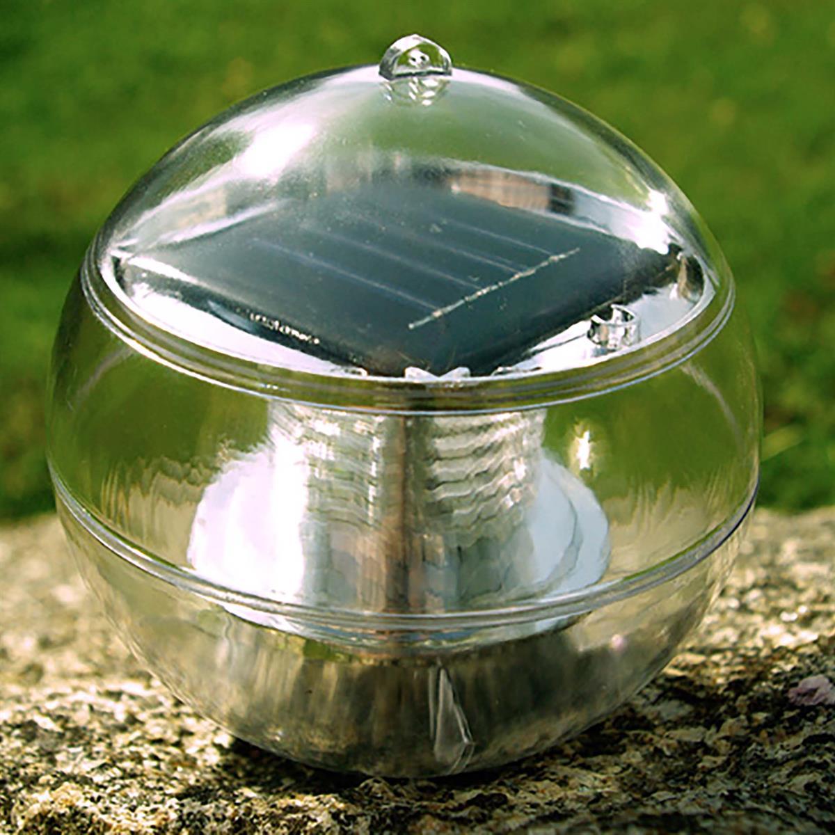 8 Schwimmkugel LED Solar mit Farbwechsel Gartenteichbeleuchtung