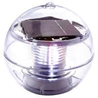 Schwimmkugel Solarleuchte Solar 11cm 2 LED weiß Teichbeleuchtung