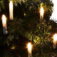 Erweiterungsset 5 kabellose Christbaumkerzen LED Lichterkette Energiespar XMAS