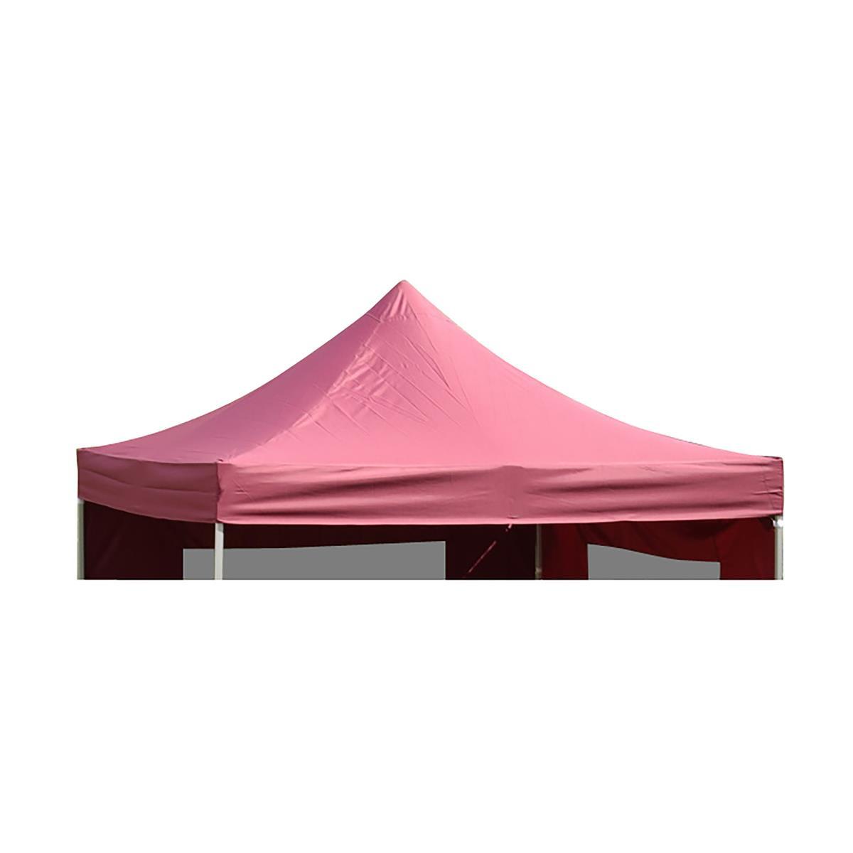 Ersatzdach für PROFI Falt Pavillon 3x3m burgund wasserdicht 270g/m² Dachplane