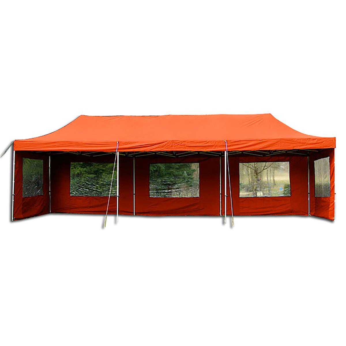 PROFI Faltpavillon 3x9 m terracotta mit Seitenteilen wasserdichtes Dach Zelt