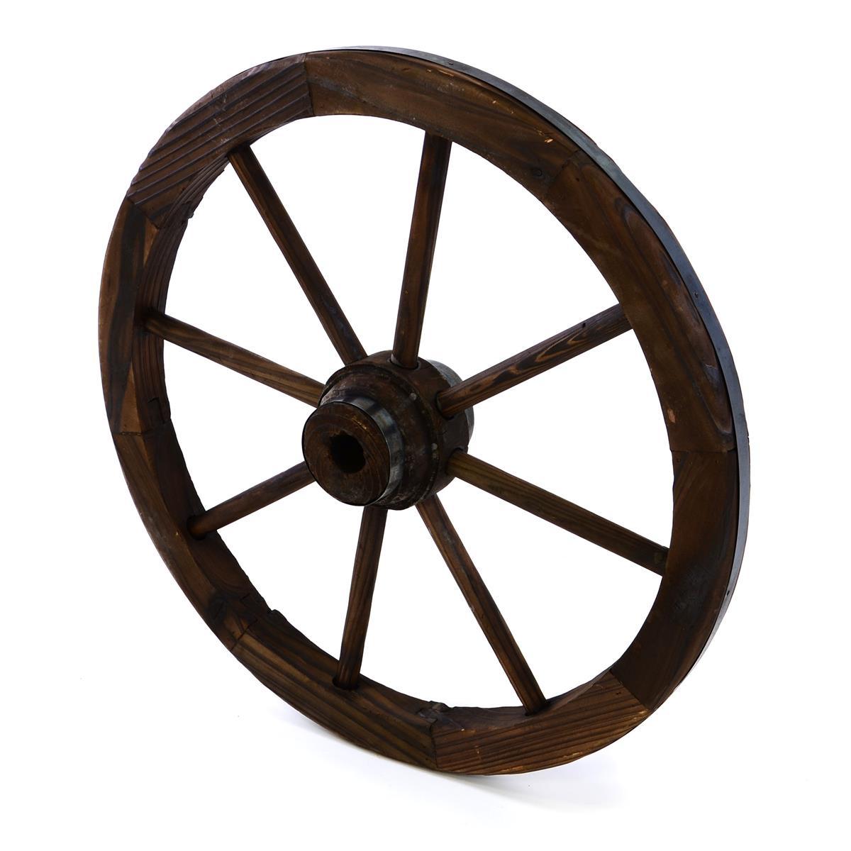 Holzrad Wagenrad 50 cm Farbe braun Dekorad Speichenrad Gartendeko Ladendeko
