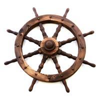 Holzrad Steuerrad Schiffssteuerrad 80 cm Farbe braun 8 Speichen Dekorad Wanddeko