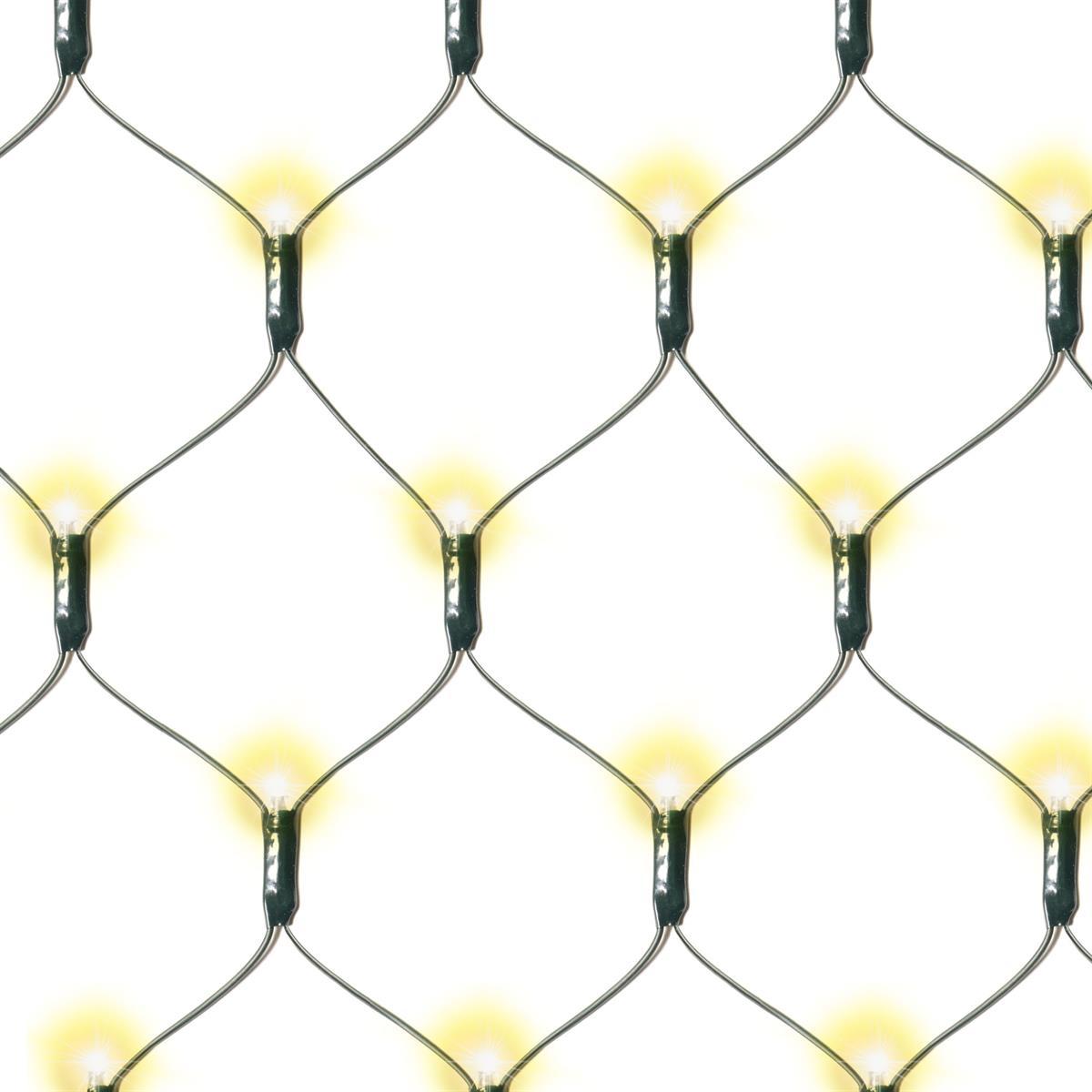 181 LED Lichternetz Solar warmweiß Pavillon Beleuchtung 3x3m Blinkfunktion