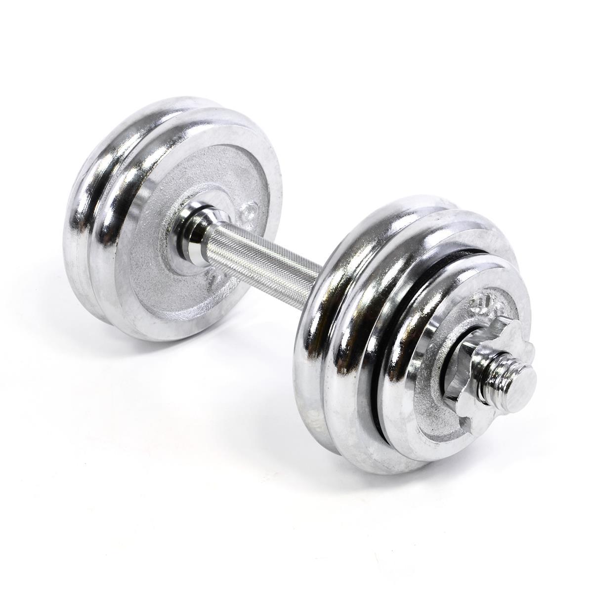 Profi Kurzhantelset Chrom Kurzhantel Hantelset Gewichte bis 15 kg Fitness Set