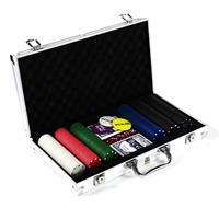 Pokerkoffer 300 Pokerchips Pokerset mit Standard Poker Chips im Alu Koffer