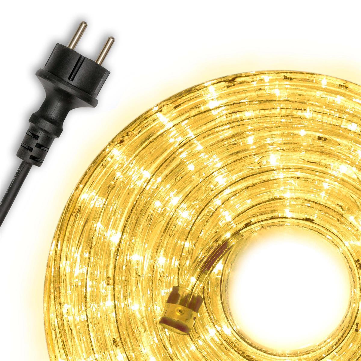 10m LED Lichtschlauch Lichterschlauch gelb Innen Außen Weihnachten