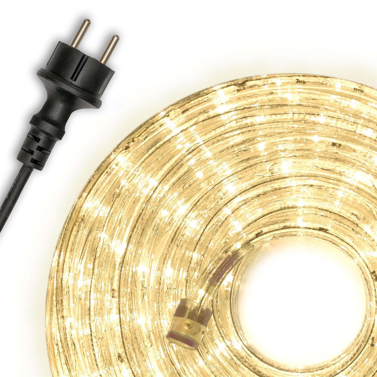 10m LED Lichtschlauch Lichterschlauch warm-weiß Innen Außen Weihnachten