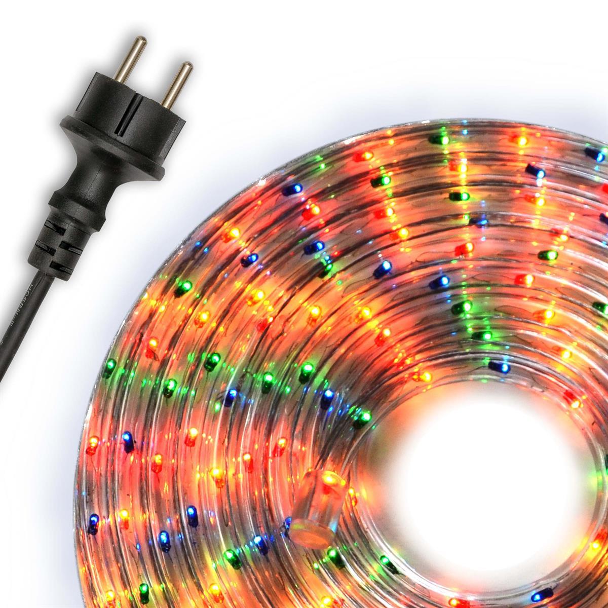 Lichtschlauch Lichterschlauch bunt 20m Lichterkette Party Deko Partybeleuchtung