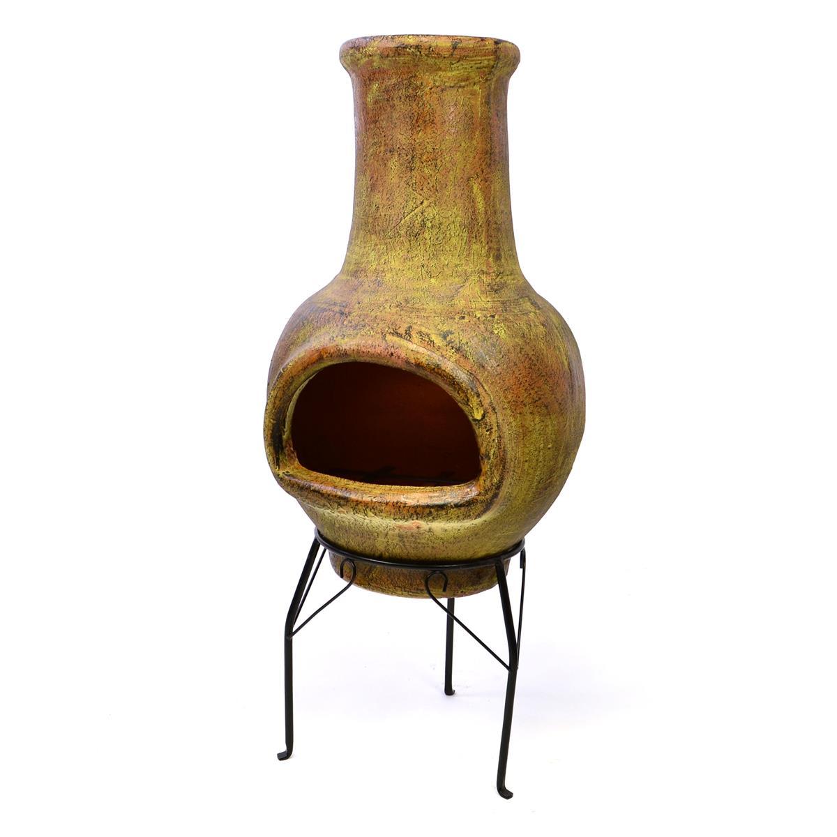 Terrassenofen Gartenkamin Terracotta 83 cm Mexico Ofen