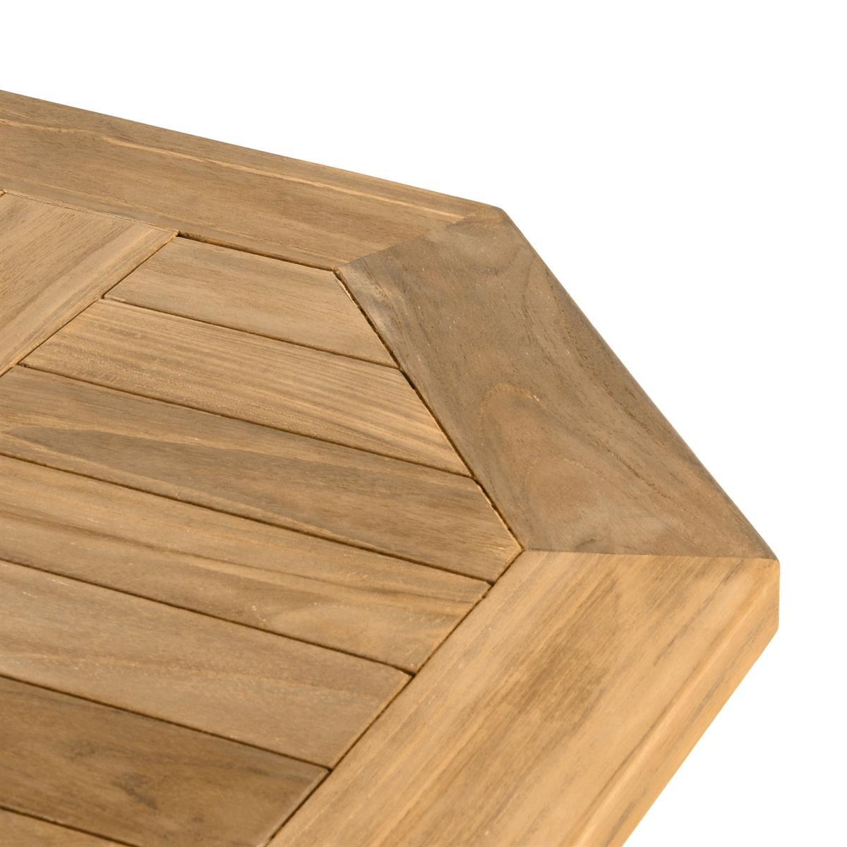 Divero 3 tlg. Balkonset Klappstuhl Tisch rund Ø 60cm