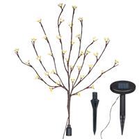 Solarlampe LED Leuchtbaum 36 LEDs warmweiß Zweig mit Blüten Blinkfunktion