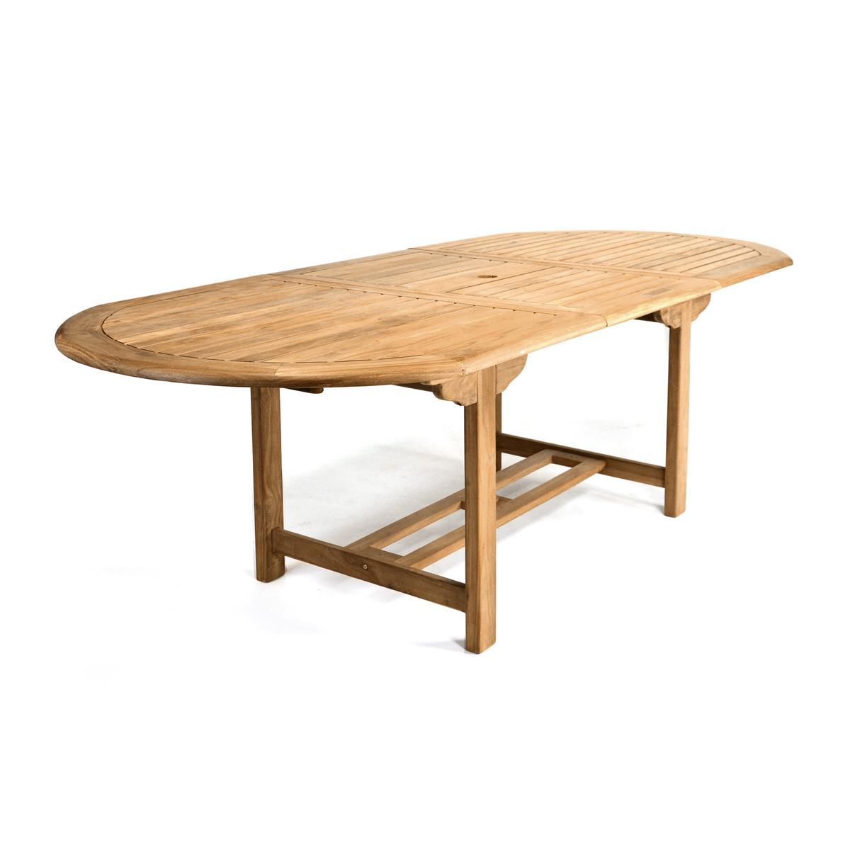 DIVERO Gartentisch Esstisch Tisch ausziehbar 230 cm Teak Holz behandelt