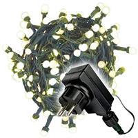 200er Maxi LED Lichterkette warm weiß außen Party Bulb Trafo grünes Kabel 30m