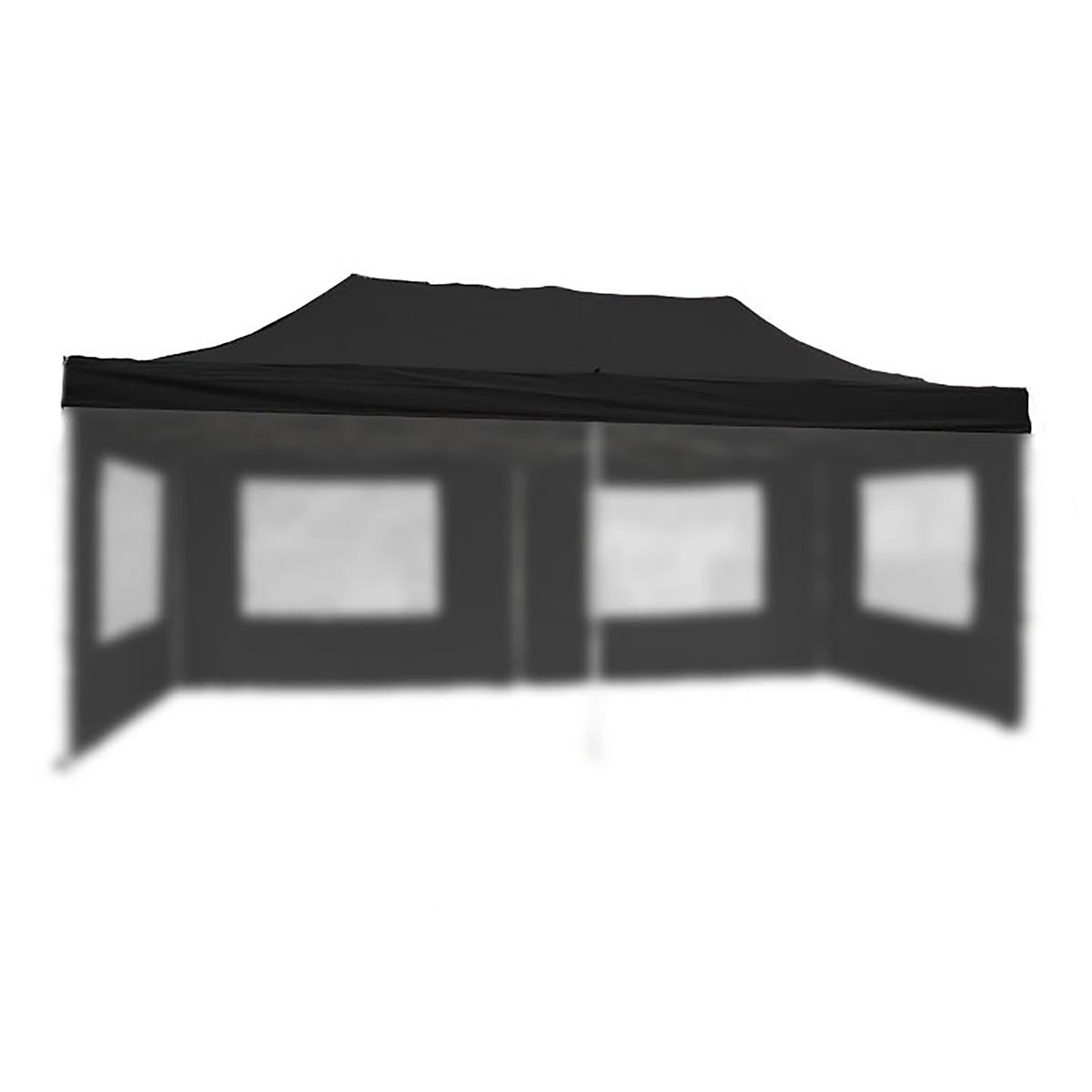 Ersatzdach für PROFI Falt Pavillon 3x6m schwarz wasserdicht Dachplane Zeltdach