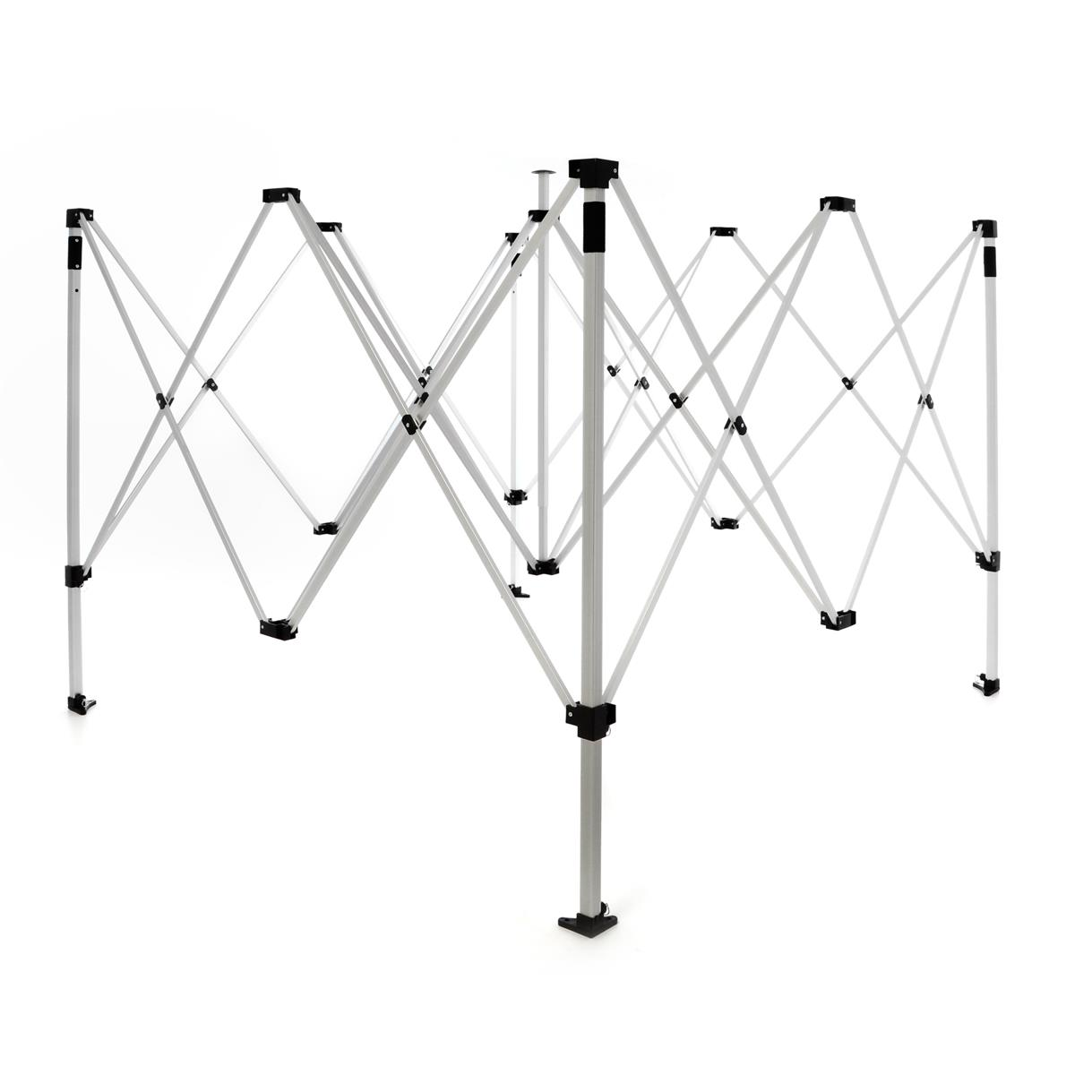 Faltpavillon Alu Rahmen Profi 3 x 3m Gestell Falt Pavillon inkl. Tragetasche