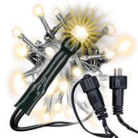 diLED 40er LED Lichterkette für Außen warmweiß erweiterbar Lichterkette System