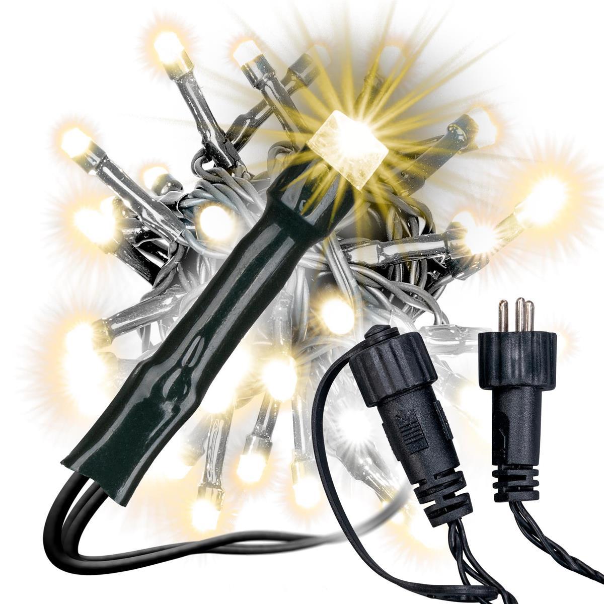 diLED 100 LED Lichterkette für Außen warmweiß erweiterbar Lichterkette System