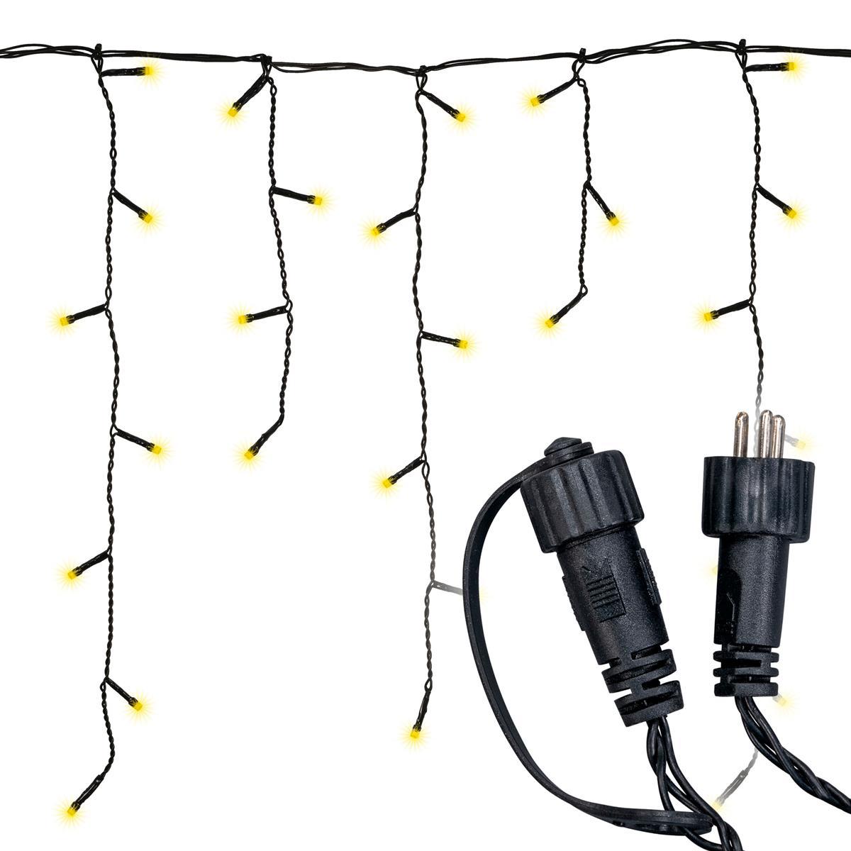 diLED 180er LED Lichterregen warmweiß erweiterbar Lichterkette System LED XMAS