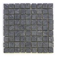 DIVERO 11 Fliesenmatten Naturstein Mosaik Andesit anthrazit á 29 x 29 cm