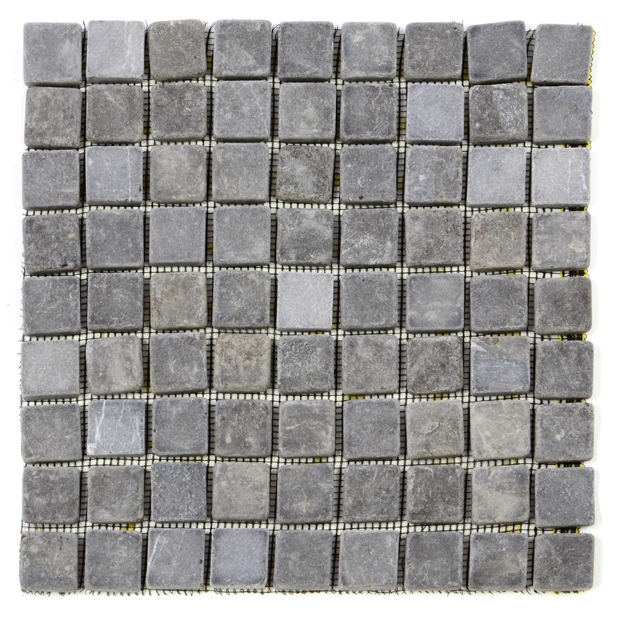 DIVERO 11 Fliesenmatten Mosaikfliesen Marmor grau á 29 x 29 cm
