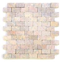 DIVERO 11 Fliesenmatten Mosaik aus Marmor zartrosa á 29 x 32 cm