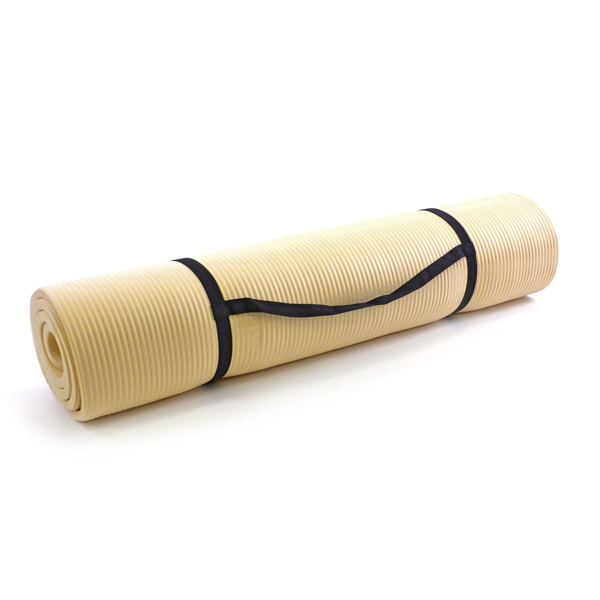 Yogamatte Gymnastikmatte Fitnessmatte 190 x 102 x 1,5 cm natur schadstofffrei