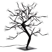 64 LED Baum mit beleuchteten Blüten Größe 45 cm weiß Blütenbaum Trafo Timer