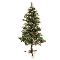 Künstlicher Weihnachtsbaum 150 cm mit Tannenzapfen und Schneeoptik Christbaum