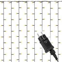 diLED 200 LED Lichtervorhang Starterset warmweiß System LED Trafo Timer