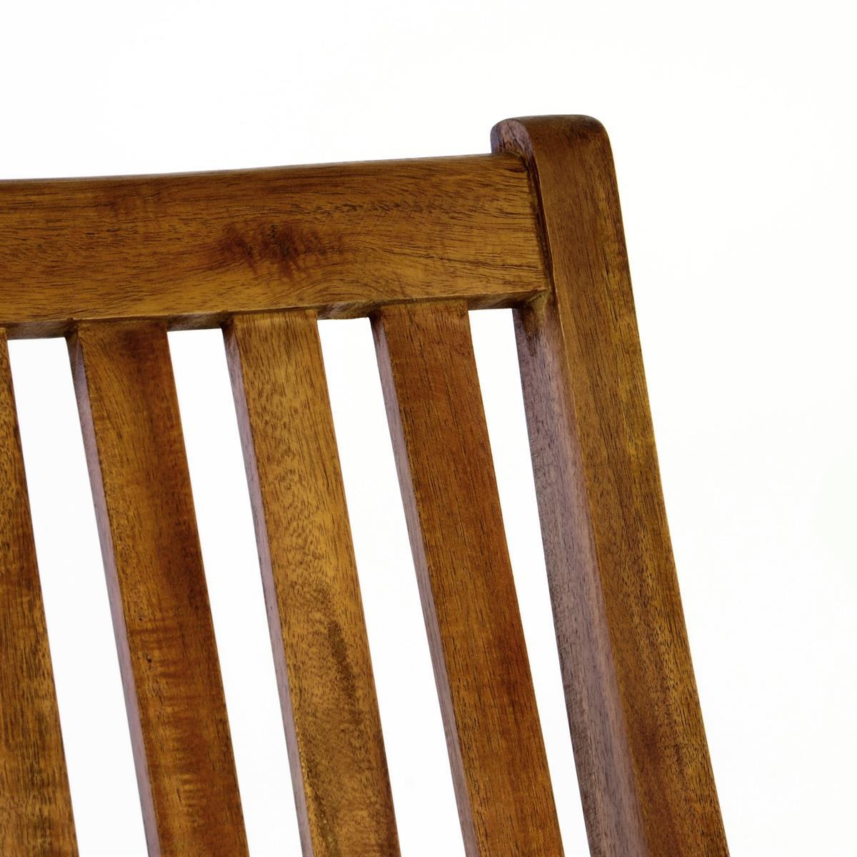 DIVERO 2er Set Gartenstuhl Hochlehner Klappstuhl Stuhl
