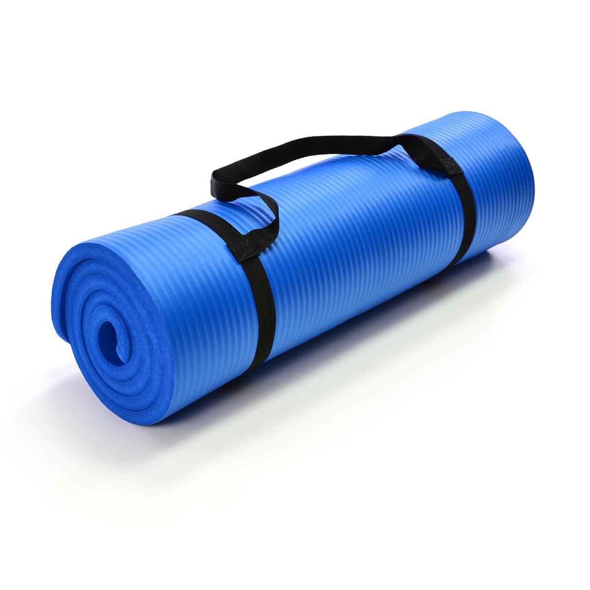 Yogamatte Gymnastikmatte Fitnessmatte 190 x 60 x 1,5 cm blau schadstofffrei